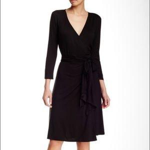 MAX STUDIO 3/4 Length Sleeve Wrap Dress